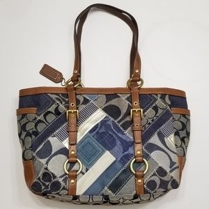 Coach Patchwork Denim Signature Design ClassicTote